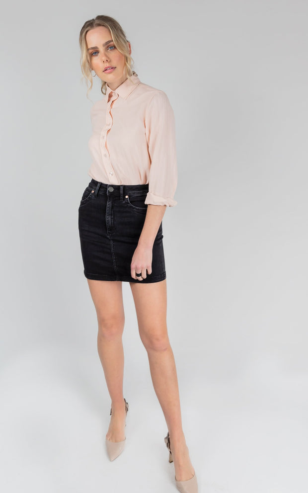 Dricoper Leah High Waisted Skirt - Black Sheep