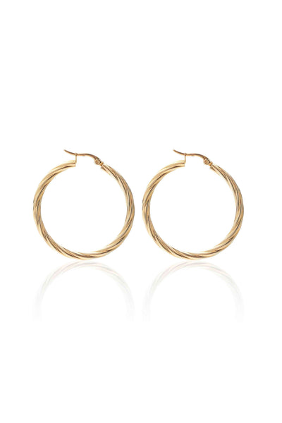 Get Twisted Hoop - Gold | Shop Silk and Steel Jewellery at IKON
