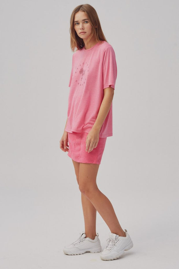 Electric Dreams T-Shirt Knit - Raspberry Marle