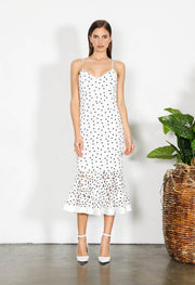 Shilla Element Flora Lace Midi Dress White | shop Shilla at IKON, Arrowtown, NZ