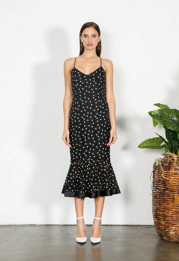 Shilla Element Flora Lace Midi Dress Black | shop Shilla at IKON, Arrowtown, NZ