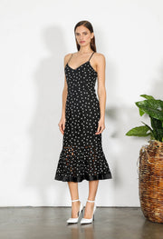 Shilla Element Flora Lace Midi Dress - Black