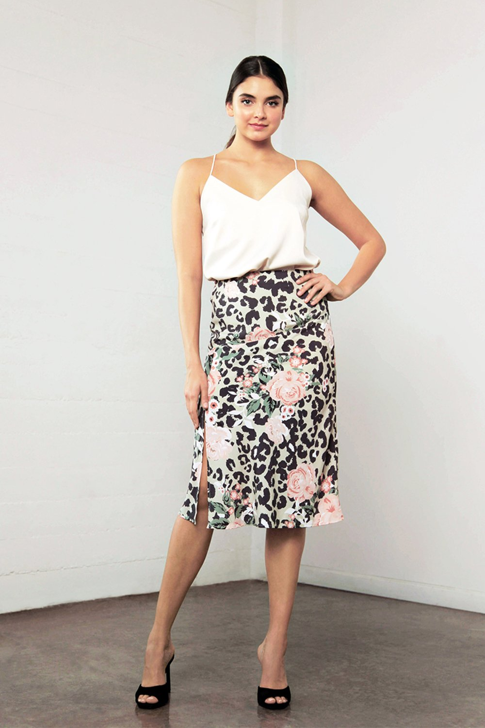 Shilla Enchant Animal Skirt Floral/Animal