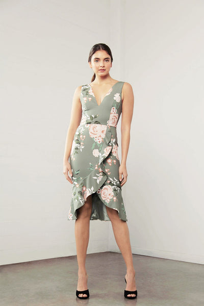 Shilla Enchant Flora Ruffle Dress Floral