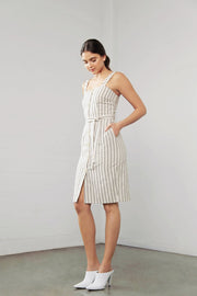 Shilla Enchant Linen Stripe Dress - Stripe