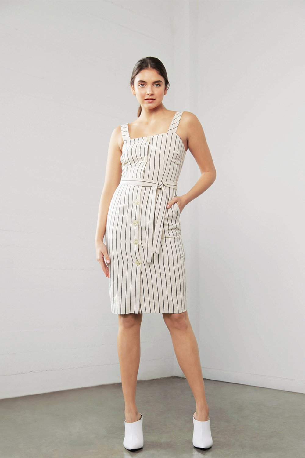 Shilla Enchant Linen Stripe Dress