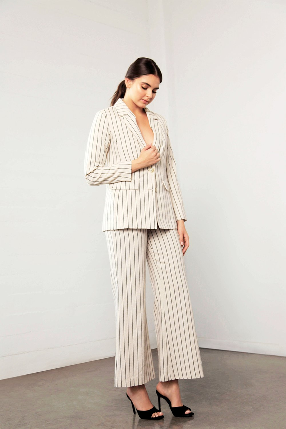 Shilla Enchant Stripe Linen Jacket