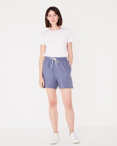 Ease Linen Short Newport Blue