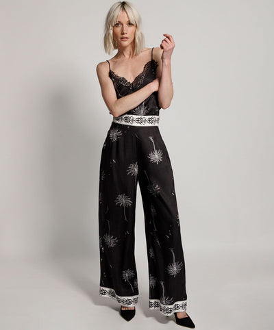Valley Wide Leg Pant - Onyx