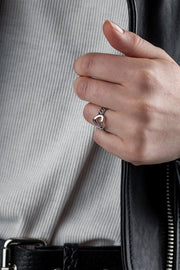 Curb Heart Ring