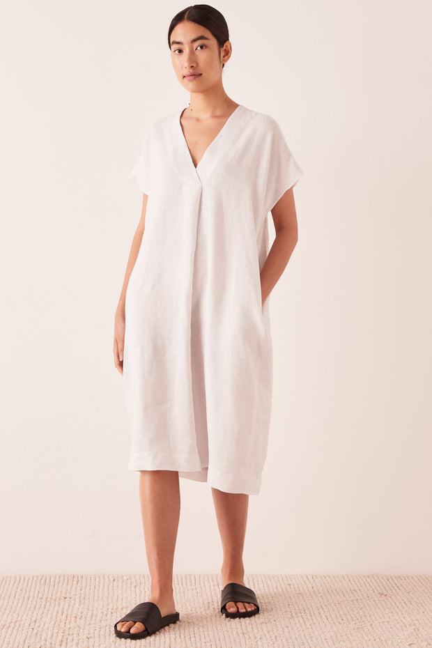 Womens Freya Linen Dress - Silver Grey | Shop Assembly Label at IKON NZ