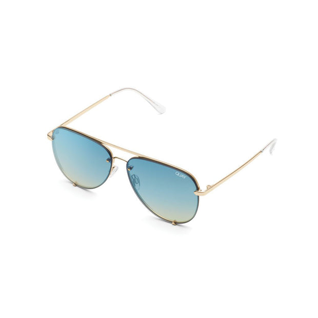 High Key Rimless - Gold/Blue Turquoise
