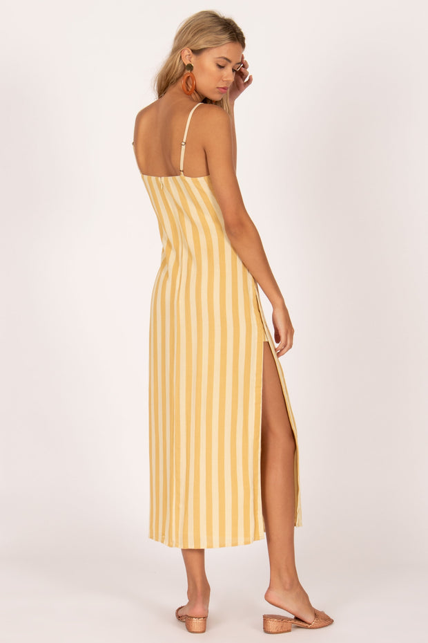 Hidden Cove Woven Maxi Dress - Ginger