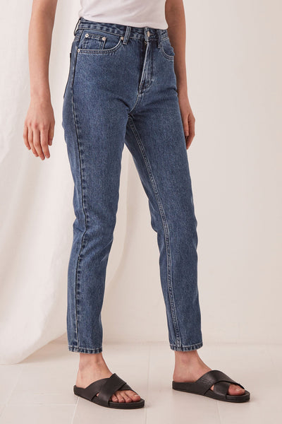 High Waisted Rigid Jean - Vintage Blue | Shop Assembly Label at IKON