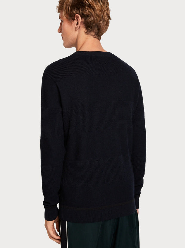Crew Neck Pullover Night Melange