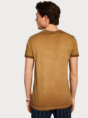 Mens Sun Faded T-Shirt - Tan