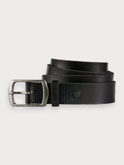 Mens Leather Belt Black