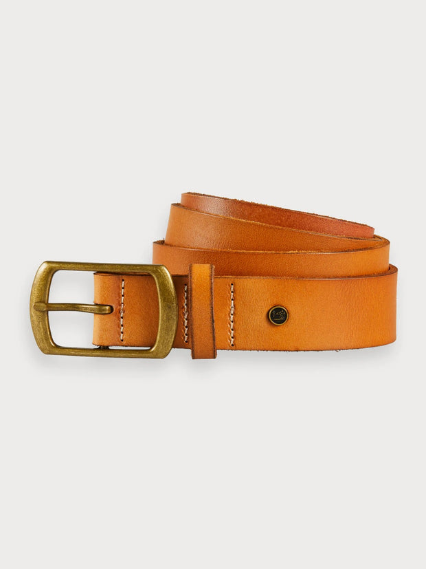 Mens Leather Belt Tan
