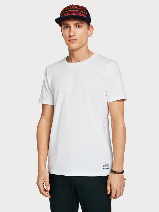 Mens Solid T-Shirt White