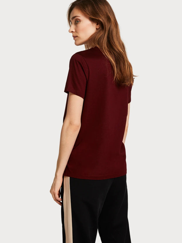 Womens Basic Cotton Blend T-Shirt - Nomade Red