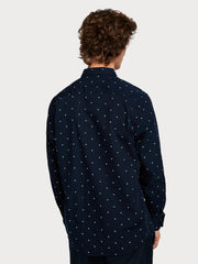 Mens Cotton Shirt Regular Fit - Navy