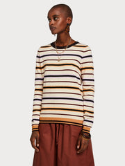 Womens Basic Pullover Stripe