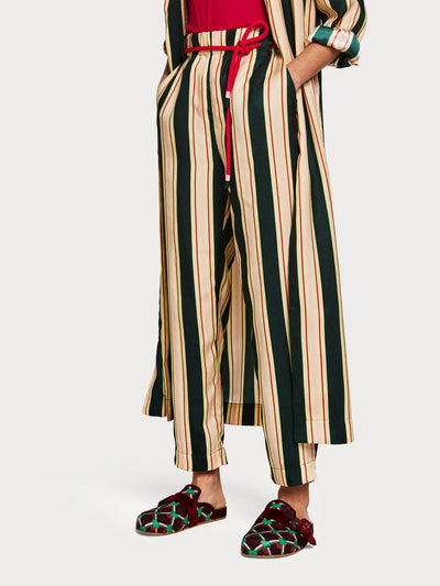Womens Striped Trousers - Green shop online or in store at IKON