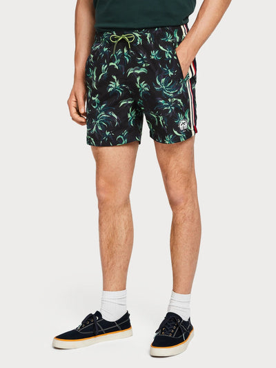 Mens Palm Print Swim Shorts