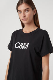 C&M Huntington Tee - Black/White