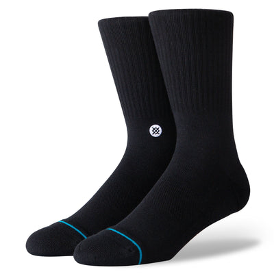 Stance Icon Athletic Sock Black/White | Shop Stance Socks at IKON NZ