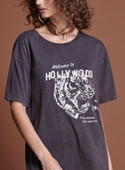 Hollywood Santa Fe Tee - Black