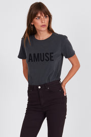 Iconic Logo Tee Charcoal | Shop Amuse Society at IKON Arrowtown NZ