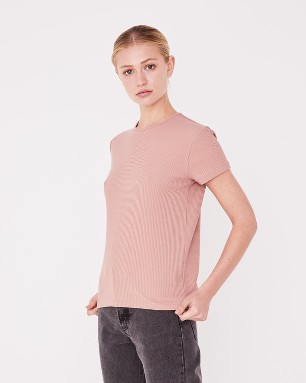 Classic Rib Tee Cameo Pink | Shop Assembly Label at IKON