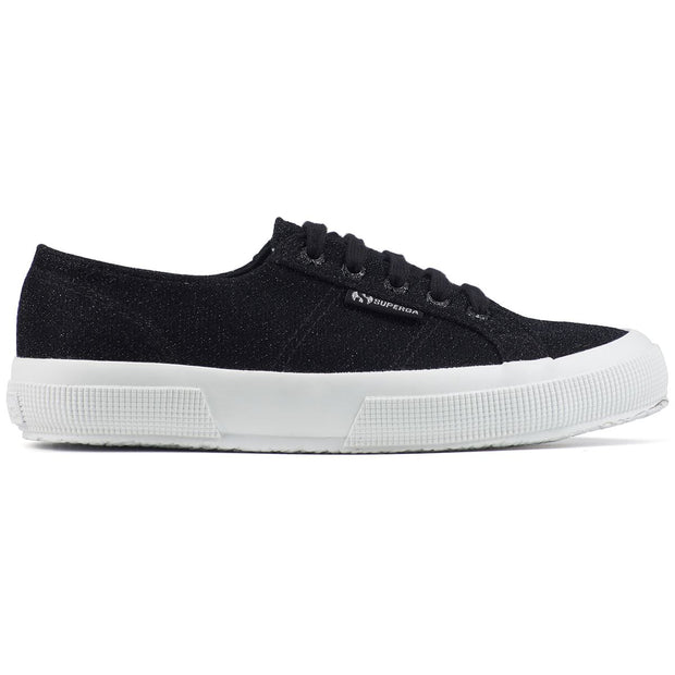 Superga 2750 Jerseylurexw Black | Shop Superga at IKON NZ