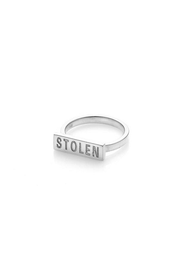 Stolen Bar Ring - Silver shop online or in store at IKON