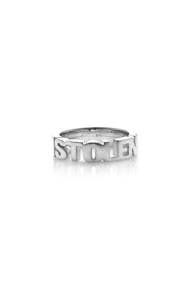 Mini Stolen Block Ring shop online or in store at IKON