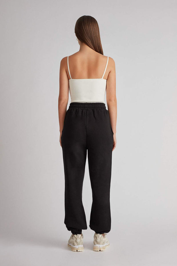 C&M Jordan High Waisted Track Pant - Black