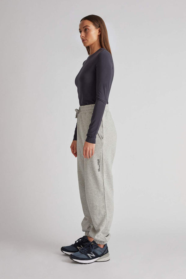 C&M Jordan High Waisted Track Pant - Grey Marle