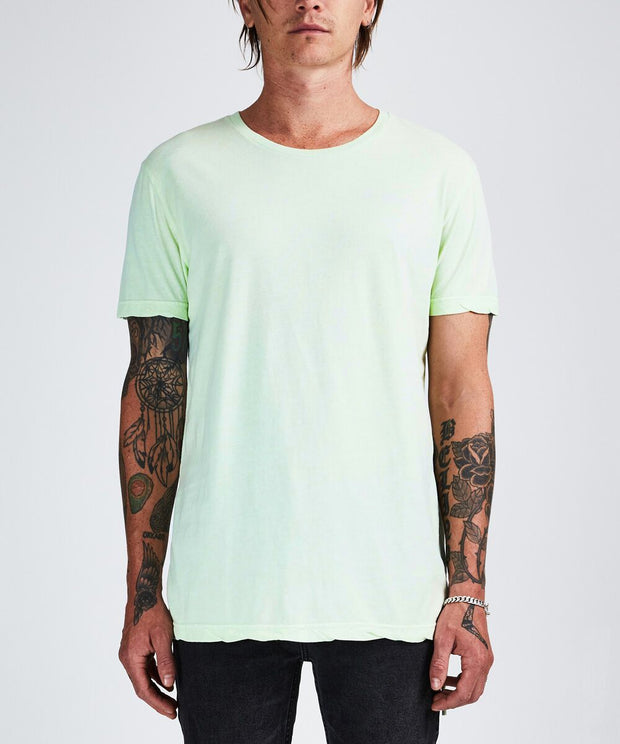 Ksubi Mens Seeing Lines SS Tee Chlorine Green | shop Ksubi at IKON, Arrowtown, NZ