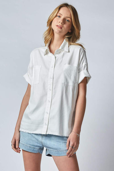 Katka Shirt - Crispy White | Shop Dricoper at IKON NZ