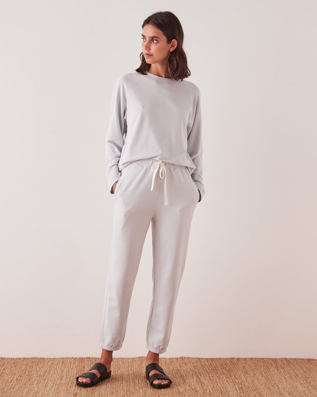Womens Kin Fleece Trackpant - Seamist