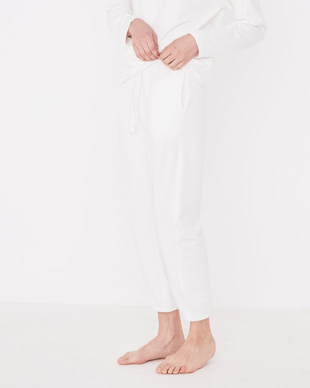 Womens Kin Fleece Trackpant Vintage White |Shop Assembly Label at IKON
