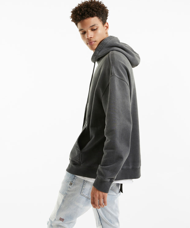 Ksubi Mens Mayhem Biggie Hoodie - Dark Grey