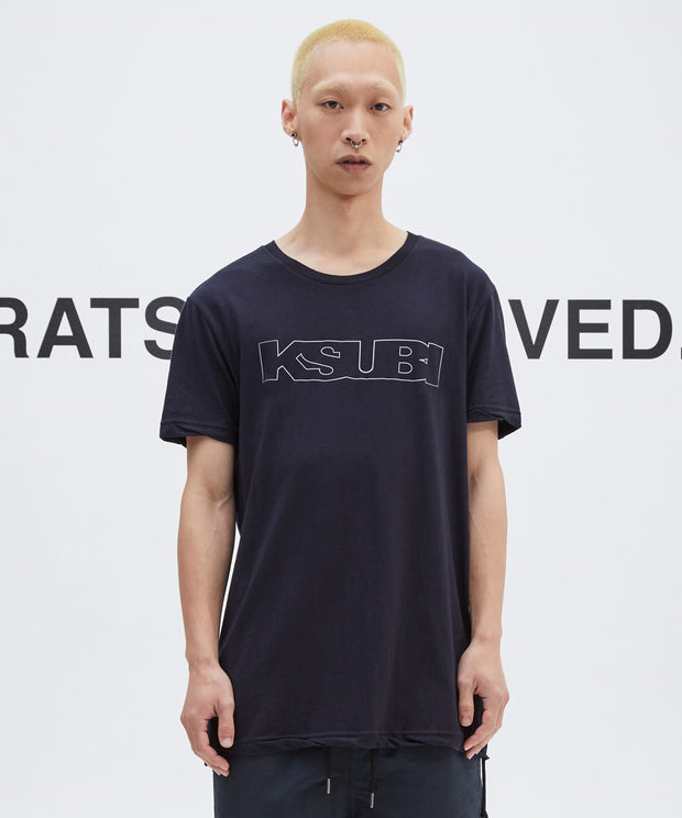 Ksubi Sign Of The Times SS Tee - Unleaded Navy