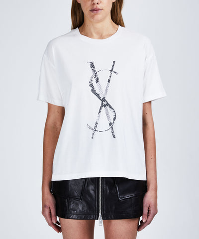 Ksubi Snake Dollar SS Tee Worn In White | shop Ksubi at IKON, Arrowtown, NZ