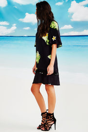 Cooper Happy Hour Dress - Black Floral