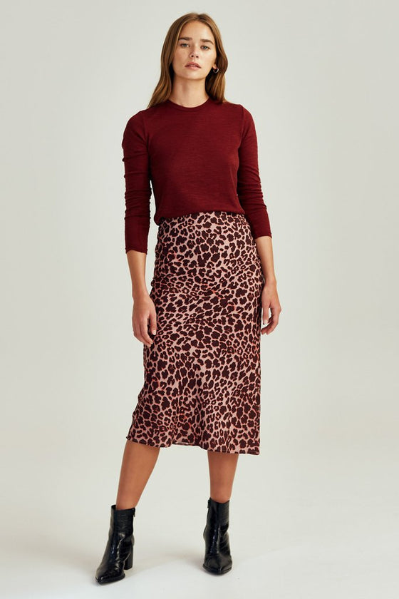 Leopard Skirt Peach Leopard | Shop The Fifth Label at IKON NZ