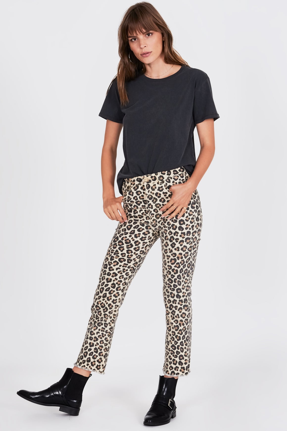 leopard print jeans by Amuse Society