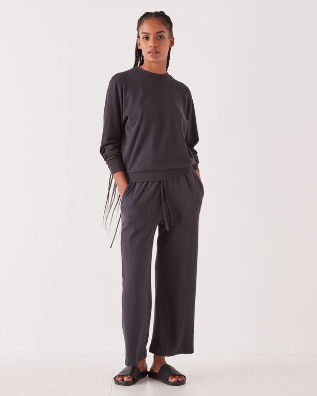 Womens Lahni Wide Pant - Washed Black