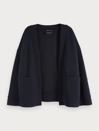 Women's Jacquard Sweat Blazer - Night
